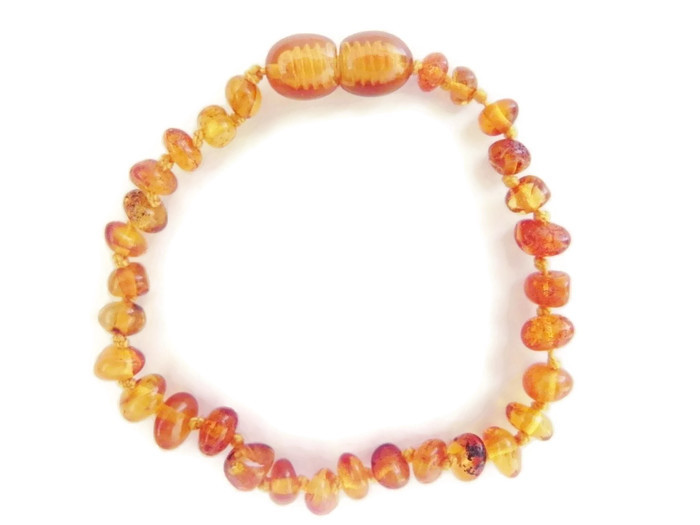 Amber teething bracelet at www.starbabyknitwear.com