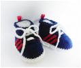 Baby Sneakers, hand knitted booties by StarBaby Designer Knitwear, www.starbabyknitwear.com