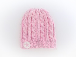 Cable Knit Hat, Baby Beanie Hat, www.starbabyknitwear.com