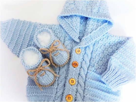Cable Knit Hoodie, Baby Hoodie by StarBaby Knitwear, www.starbabyknitwear.com