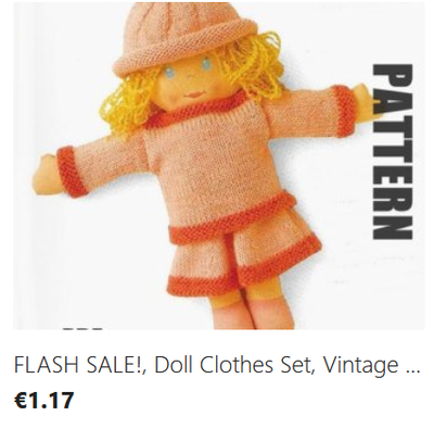 Rag Doll Clothes knitting pattern download