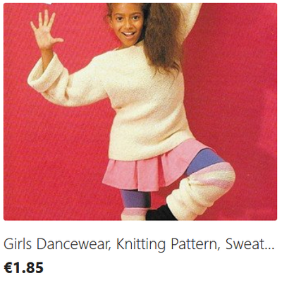 Girls Dance Accessories knitting pattern download