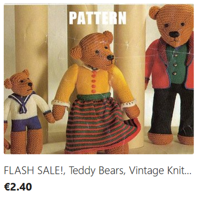 Teddy Bear Family knitting pattern download