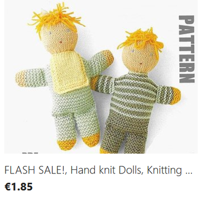 Hand Knit Dolls Knitting Pattern download